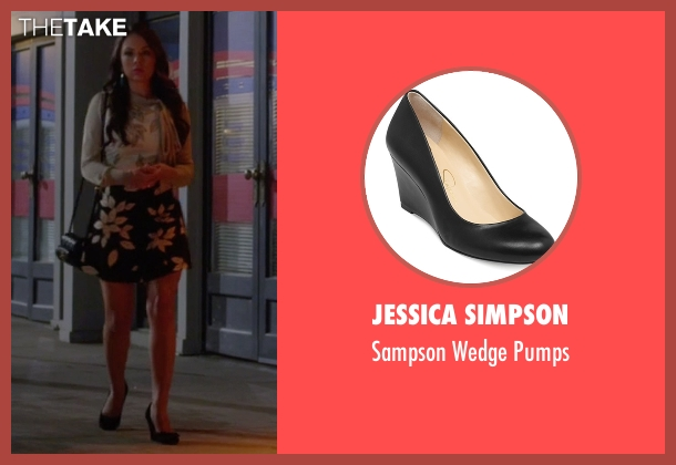 Jessica Simpson black pumps from Pretty Little Liars seen with Mona Vanderwaal  (Janel Parrish)