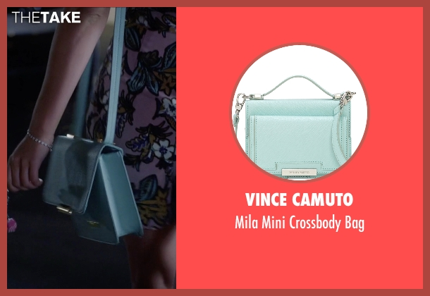 Vince Camuto blue bag from Pretty Little Liars seen with Mona Vanderwaal  (Janel Parrish)