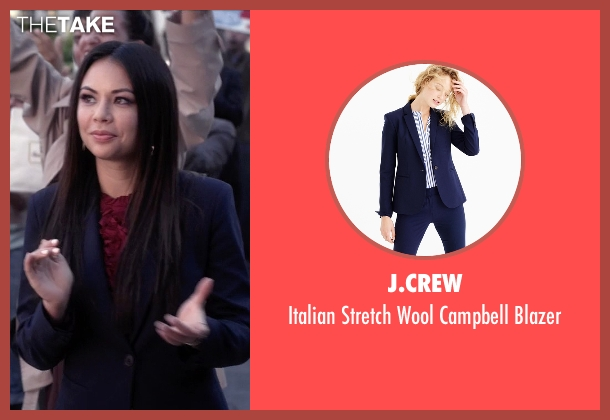 J.Crew blue blazer from Pretty Little Liars seen with Mona Vanderwaal  (Janel Parrish)