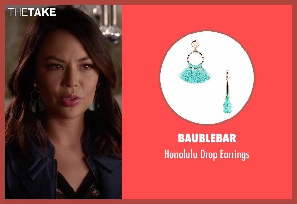 Baublebar blue earrings from Pretty Little Liars seen with Mona Vanderwaal  (Janel Parrish)