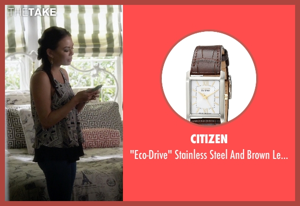 Citizen brown watch from Pretty Little Liars seen with Mona Vanderwaal  (Janel Parrish)