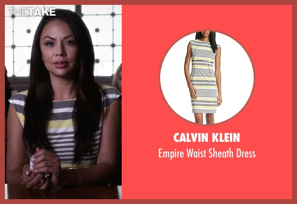 Calvin Klein dress from Pretty Little Liars seen with Mona Vanderwaal  (Janel Parrish)