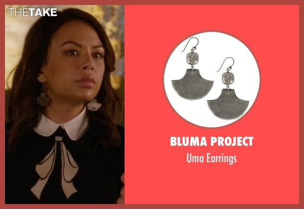 Bluma Project earrings from Pretty Little Liars seen with Mona Vanderwaal  (Janel Parrish)