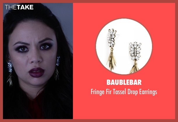 Baublebar gold earrings from Pretty Little Liars seen with Mona Vanderwaal  (Janel Parrish)