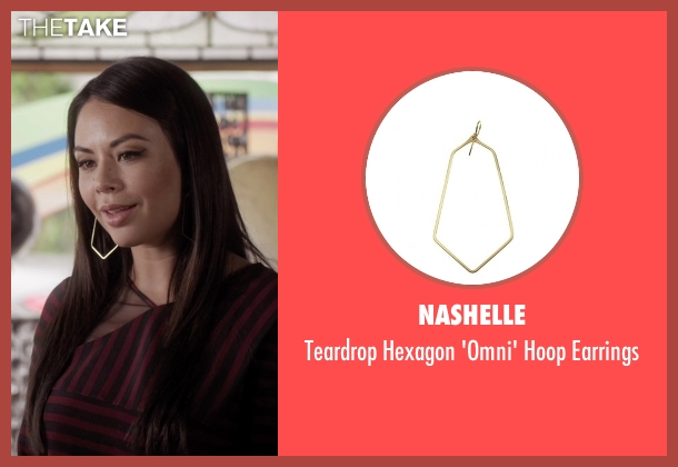Nashelle gold earrings from Pretty Little Liars seen with Mona Vanderwaal  (Janel Parrish)