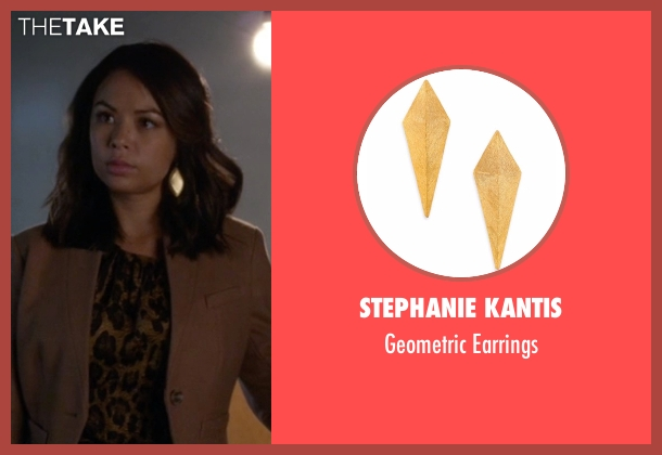 Stephanie Kantis gold earrings from Pretty Little Liars seen with Mona Vanderwaal  (Janel Parrish)