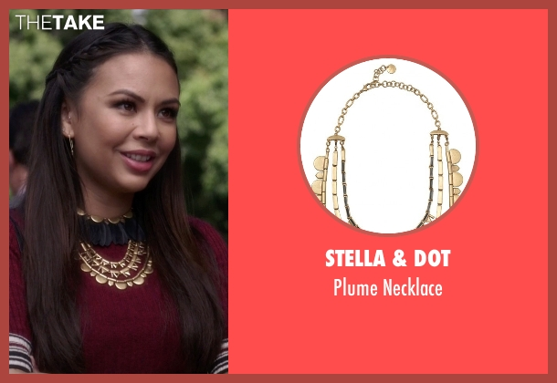 Stella & Dot  gold necklace from Pretty Little Liars seen with Mona Vanderwaal  (Janel Parrish)
