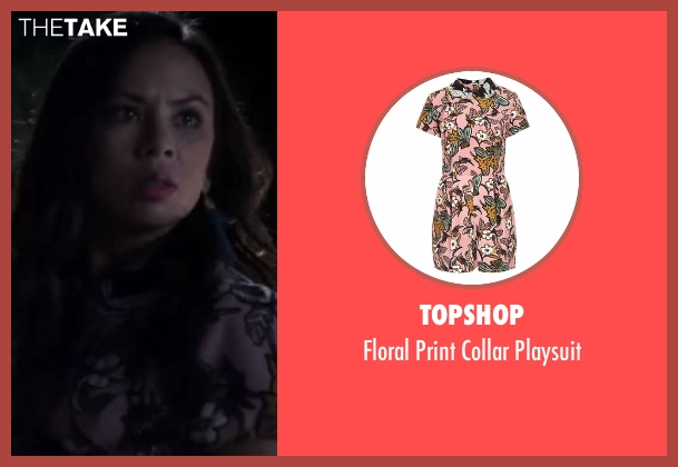 Topshop pink playsuit from Pretty Little Liars seen with Mona Vanderwaal  (Janel Parrish)