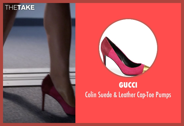 Gucci pink pumps from Pretty Little Liars seen with Mona Vanderwaal  (Janel Parrish)