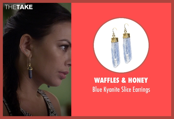 Waffles & Honey purple earrings from Pretty Little Liars seen with Mona Vanderwaal  (Janel Parrish)