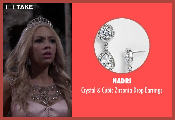 Nadri silver earrings from Pretty Little Liars seen with Mona Vanderwaal  (Janel Parrish)