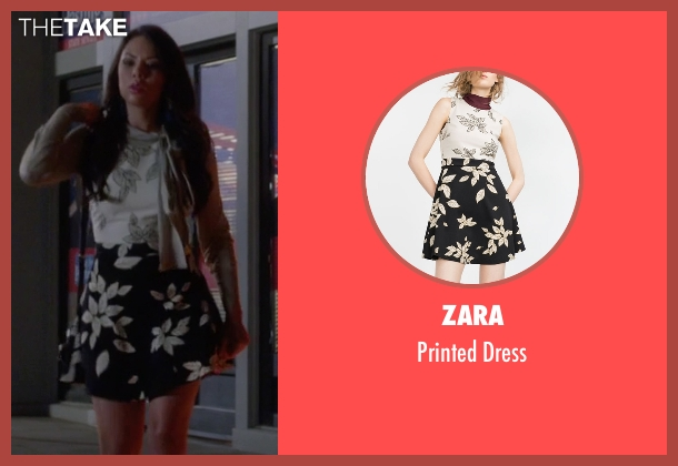 Zara white dress from Pretty Little Liars seen with Mona Vanderwaal  (Janel Parrish)