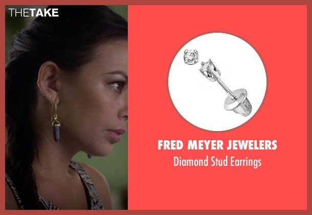 Fred Meyer Jewelers white earrings from Pretty Little Liars seen with Mona Vanderwaal  (Janel Parrish)