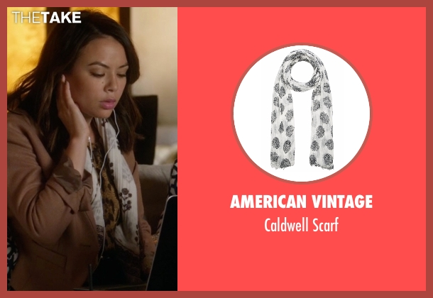 American Vintage white scarf from Pretty Little Liars seen with Mona Vanderwaal  (Janel Parrish)