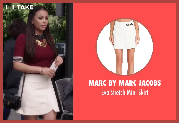 Marc By Marc Jacobs white skirt from Pretty Little Liars seen with Mona Vanderwaal  (Janel Parrish)