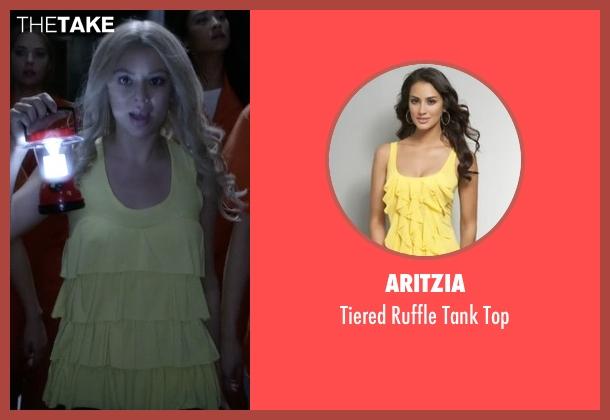 Aritzia yellow top from Pretty Little Liars seen with Mona Vanderwaal  (Janel Parrish)
