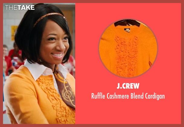 J.Crew  orange cardigan from High School Musical 3: Senior Year seen with Monique Coleman (Taylor McKessie)
