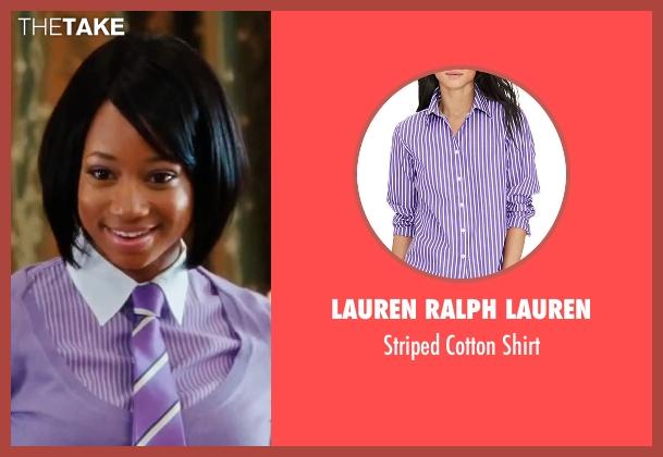 Lauren Ralph Lauren purple shirt from High School Musical 3: Senior Year seen with Monique Coleman (Taylor McKessie)