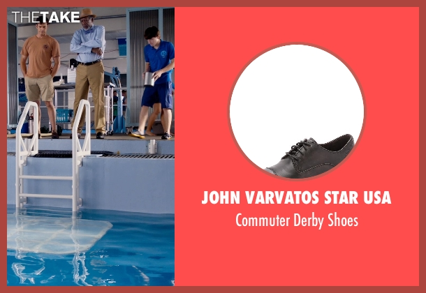 John Varvatos Star USA black shoes from Dolphin Tale 2 seen with Morgan Freeman (Dr. Cameron McCarthy)
