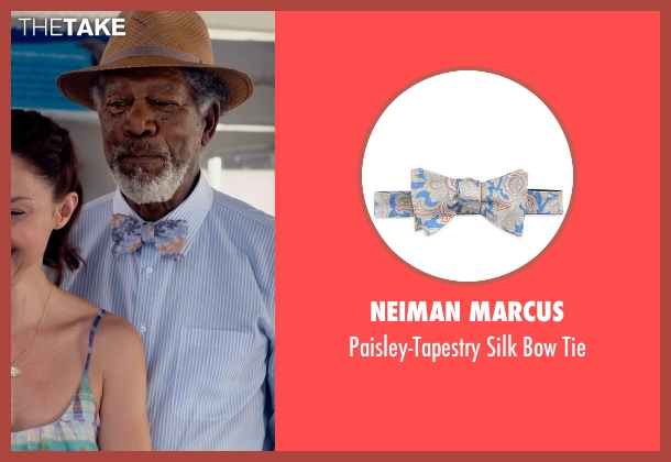 Neiman Marcus blue tie from Dolphin Tale 2 seen with Morgan Freeman (Dr. Cameron McCarthy)