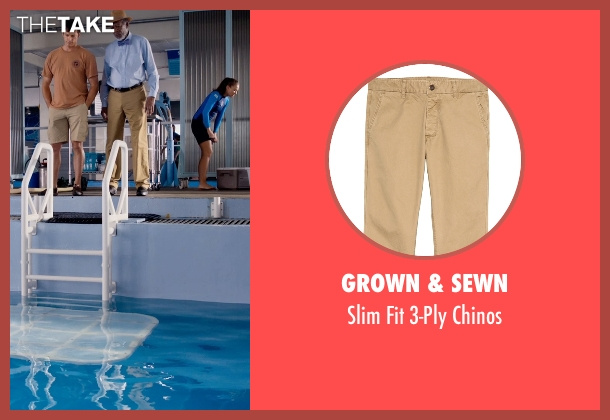 Grown & Sewn brown chinos from Dolphin Tale 2 seen with Morgan Freeman (Dr. Cameron McCarthy)