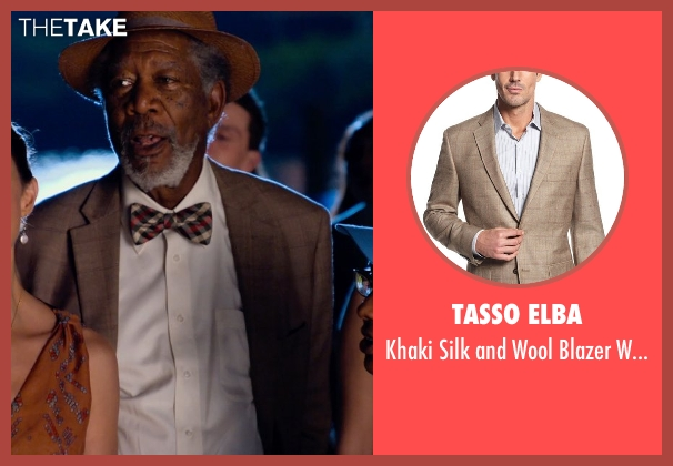 Tasso Elba brown sportcoat from Dolphin Tale 2 seen with Morgan Freeman (Dr. Cameron McCarthy)