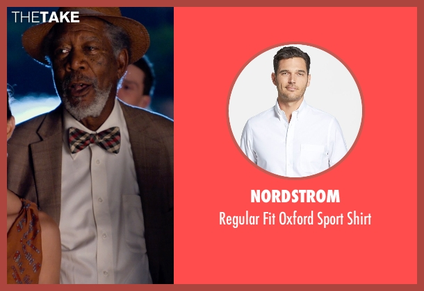 Nordstrom white shirt from Dolphin Tale 2 seen with Morgan Freeman (Dr. Cameron McCarthy)