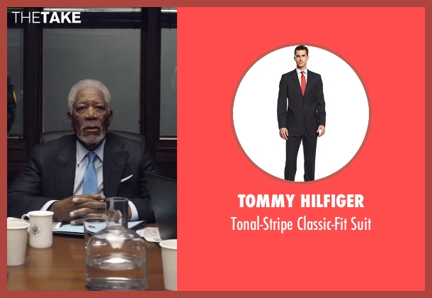 Tommy Hilfiger black suit from London Has Fallen seen with Morgan Freeman (Speaker Trumbull)