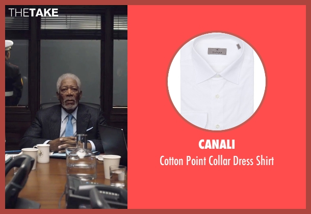 Canali white shirt from London Has Fallen seen with Morgan Freeman (Speaker Trumbull)