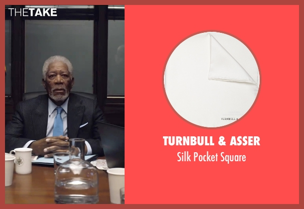 Turnbull & Asser white square from London Has Fallen seen with Morgan Freeman (Speaker Trumbull)