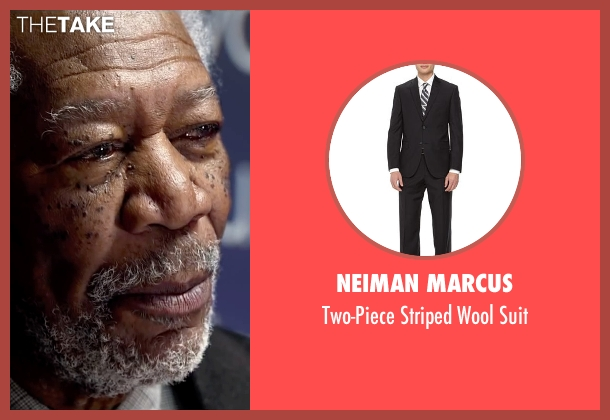 Neiman Marcus black suit from Lucy seen with Morgan Freeman (Professor Norman)