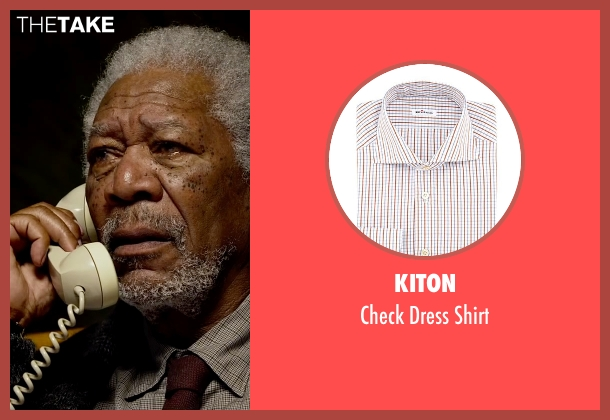 Kiton brown shirt from Lucy seen with Morgan Freeman (Professor Norman)