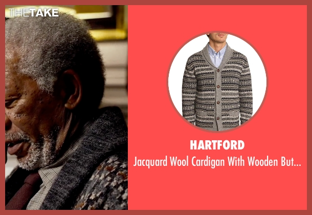 Hartford gray buttons from Lucy seen with Morgan Freeman (Professor Norman)