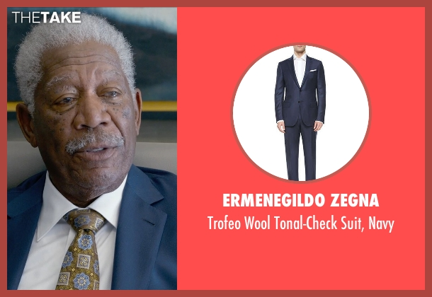 Ermenegildo Zegna blue navy from Ted 2 seen with Morgan Freeman (Patrick Meighan)