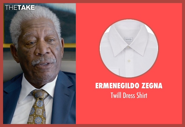 Ermenegildo Zegna white shirt from Ted 2 seen with Morgan Freeman (Patrick Meighan)