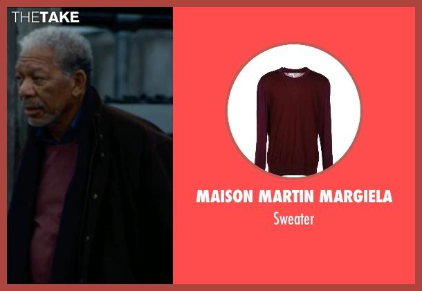Maison Martin Margiela sweater from The Dark Knight Rises seen with Morgan Freeman (Fox)