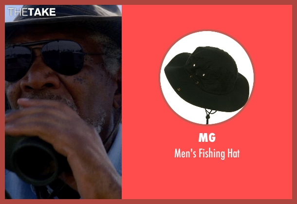 MG hat from Transcendence seen with Morgan Freeman (Joseph Tagger)