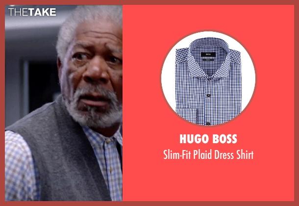 Hugo Boss shirt from Transcendence seen with Morgan Freeman (Joseph Tagger)