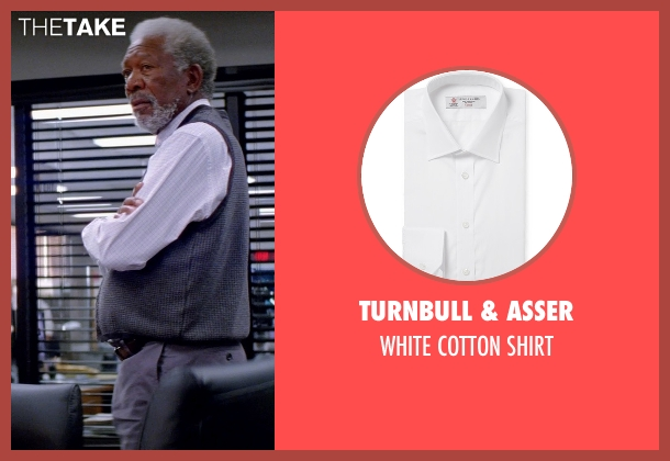 TURNBULL & ASSER white shirt from Transcendence seen with Morgan Freeman (Joseph Tagger)