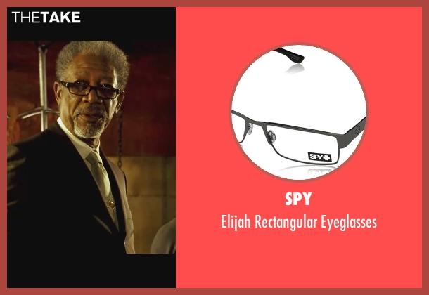 Spy black eyeglasses from Wanted seen with Morgan Freeman (Sloan)