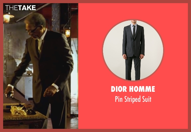 Dior Homme   black suit from Wanted seen with Morgan Freeman (Sloan)