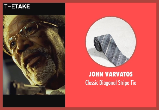 John Varvatos gray tie from Wanted seen with Morgan Freeman (Sloan)