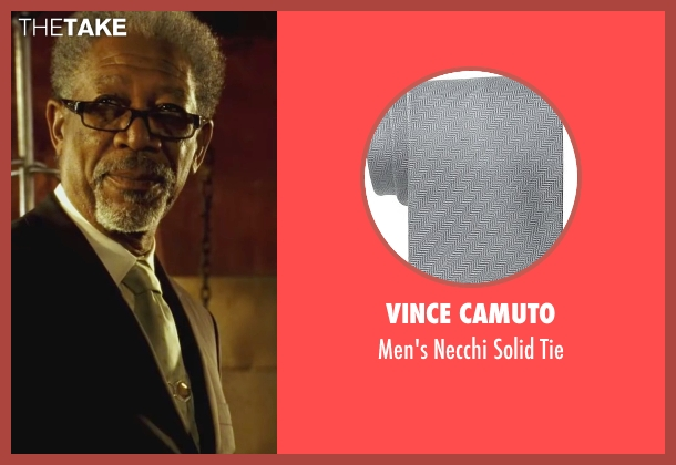 Vince Camuto gray tie from Wanted seen with Morgan Freeman (Sloan)