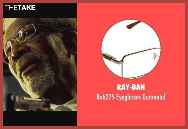 Ray-Ban gunmetal from Wanted seen with Morgan Freeman (Sloan)