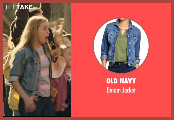 Old Navy blue jacket from McFarland, USA seen with Morgan Saylor (Julie White)