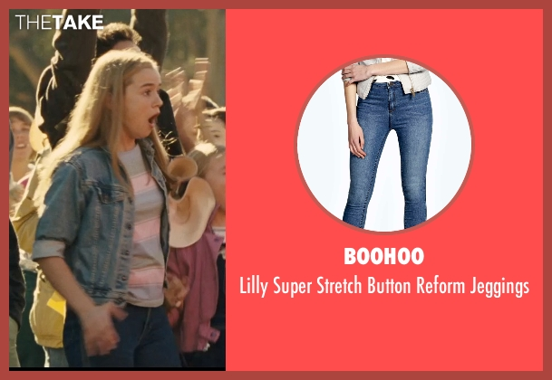 Boohoo blue jeggings from McFarland, USA seen with Morgan Saylor (Julie White)