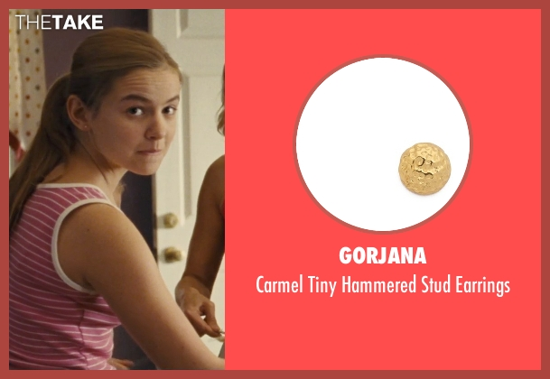 Gorjana gold earrings from McFarland, USA seen with Morgan Saylor (Julie White)
