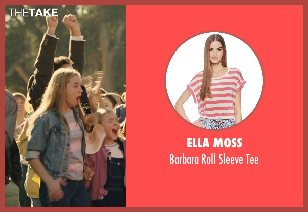 Ella Moss pink tee from McFarland, USA seen with Morgan Saylor (Julie White)