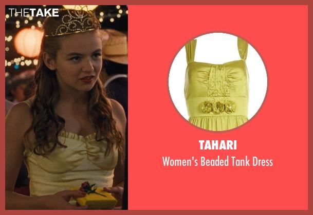 Tahari yellow dress from McFarland, USA seen with Morgan Saylor (Julie White)
