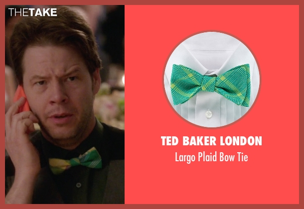 Ted Baker London green tie from The Mindy Project seen with Morgan Tookers (Ike Barinholtz)